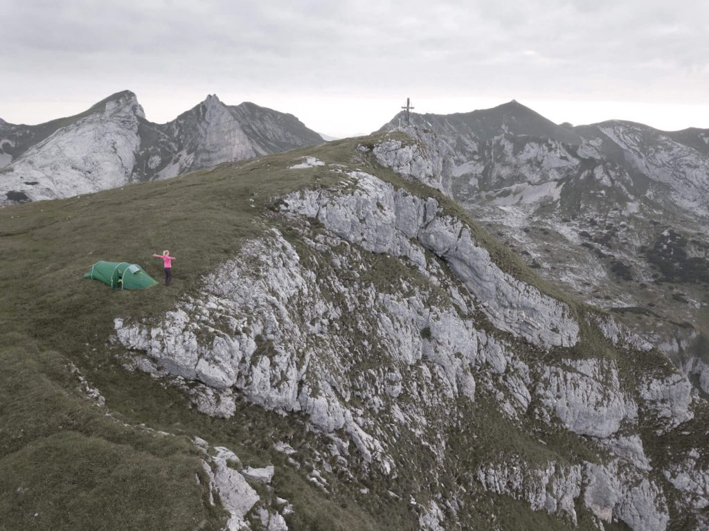 Rule of the game in wild camping - man is a guest in nature.