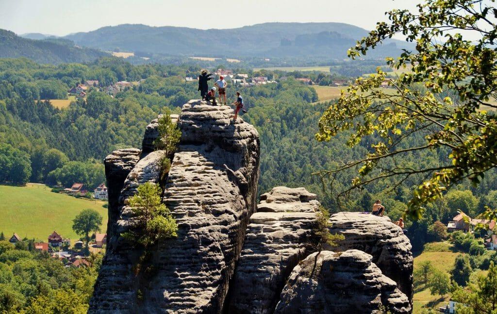 Klettern in der Sächsischen Schweiz - Bastei