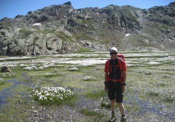 Wandern zwischen Ridnaun und Passeier in den Stubaier Alpen.