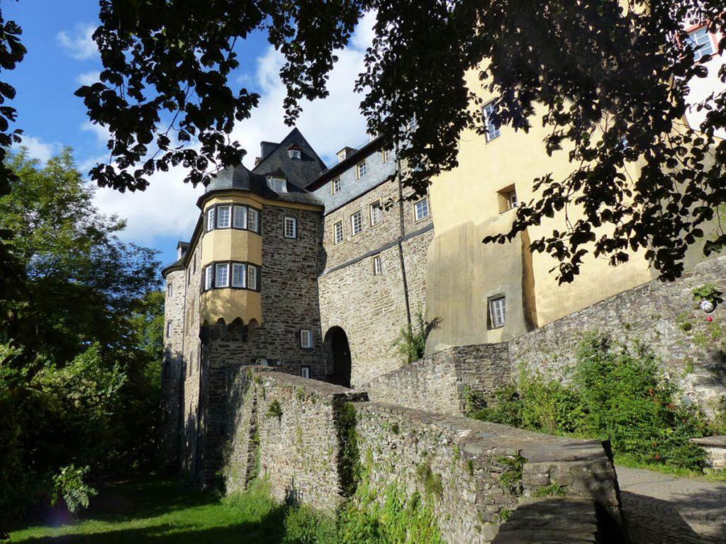 Castle on stage 14 of the Natursteig Sieg.