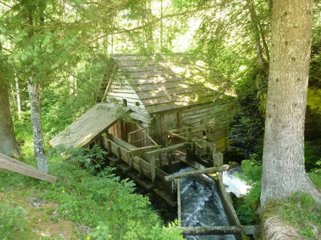 Hiking in Schladming - Old Mill in Rohrmoos-Untertal.