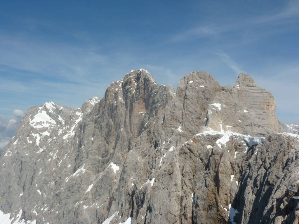 Die Gipfel des Dachstein-Massivs.