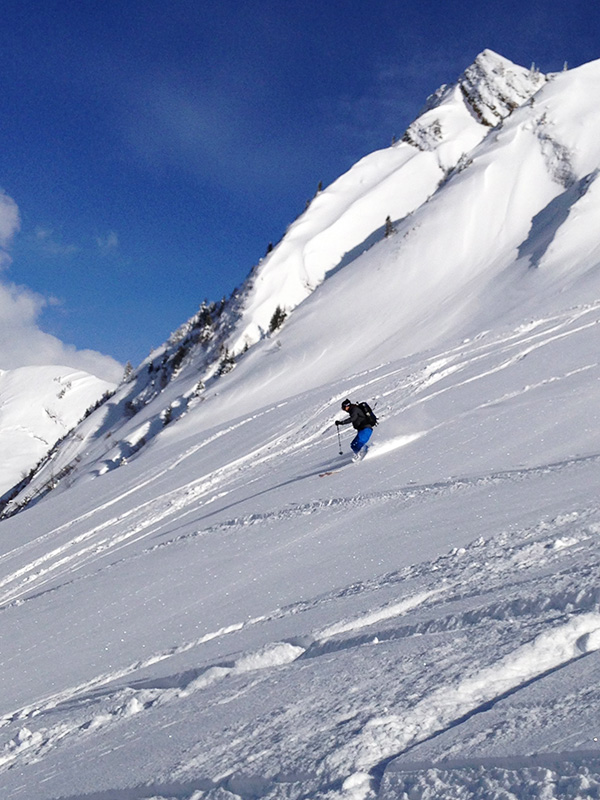 Ski tour Güntlespitze - A grandiose descent as the crowning glory.