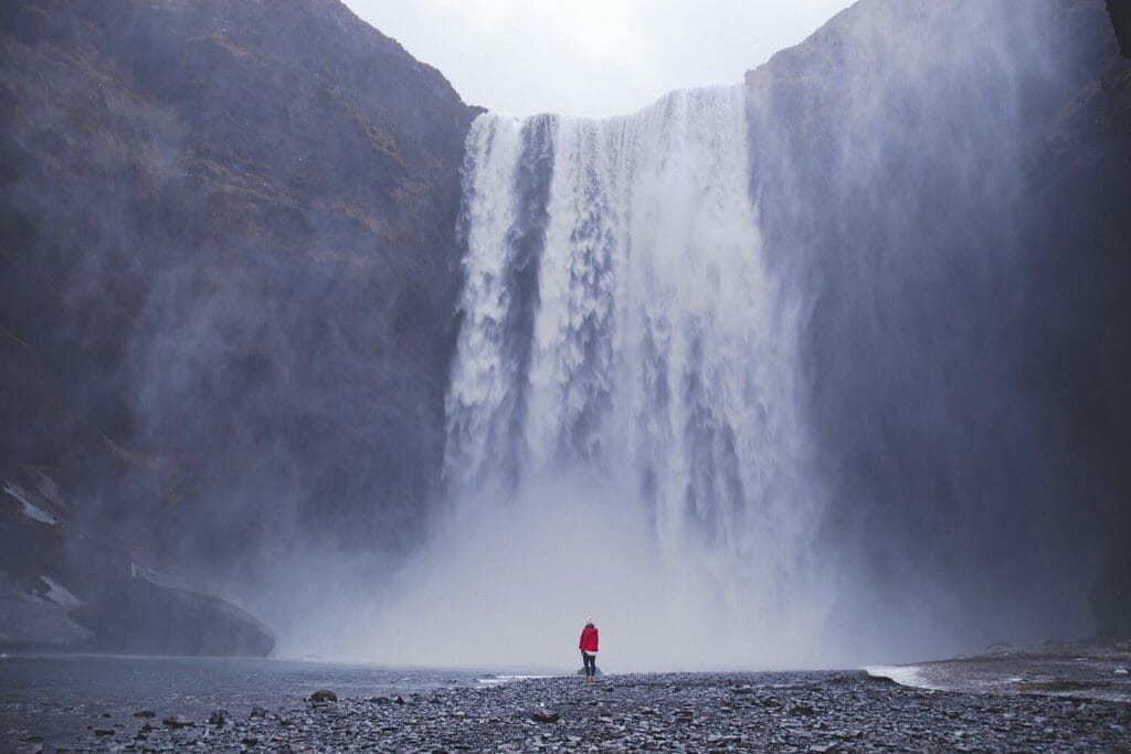 Der Skogafoss-Wasserfall auf Island.