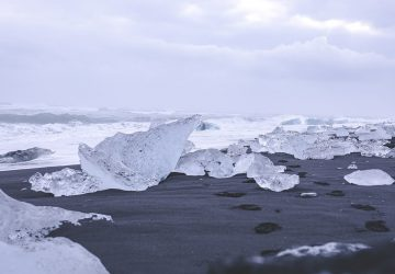 Iceland Sights - Ice pieces at the glacier lagoon Jökulsarlon.