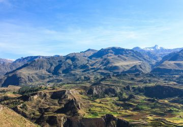 Peru Trekking - View of the Colca Canyon.