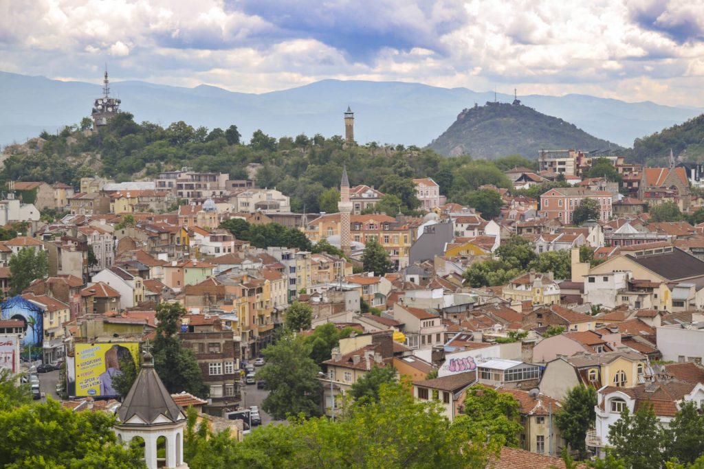 View of the city Plovdiv in Bulgaria, Capital of Culture 2019.