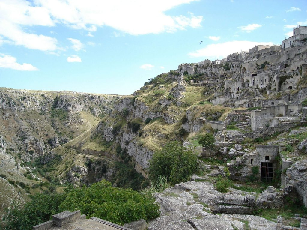 Capital of Culture 2019 - Sassi di Matera cave settlement.