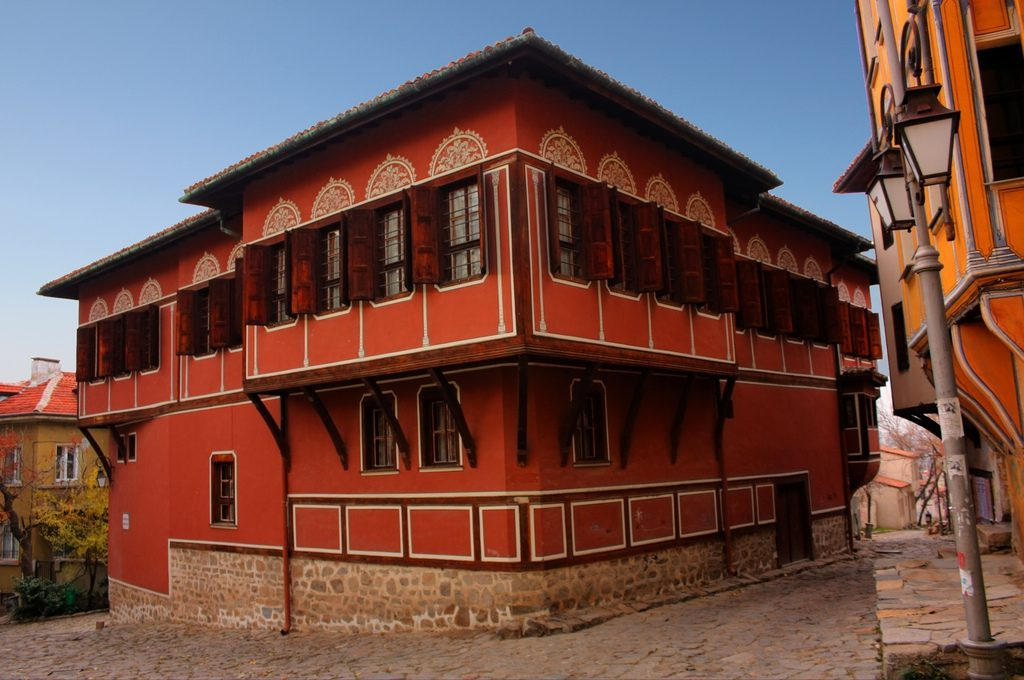 Red House in Baroque style in Plovdiv, Bulgaria, Capital of Culture 2019.