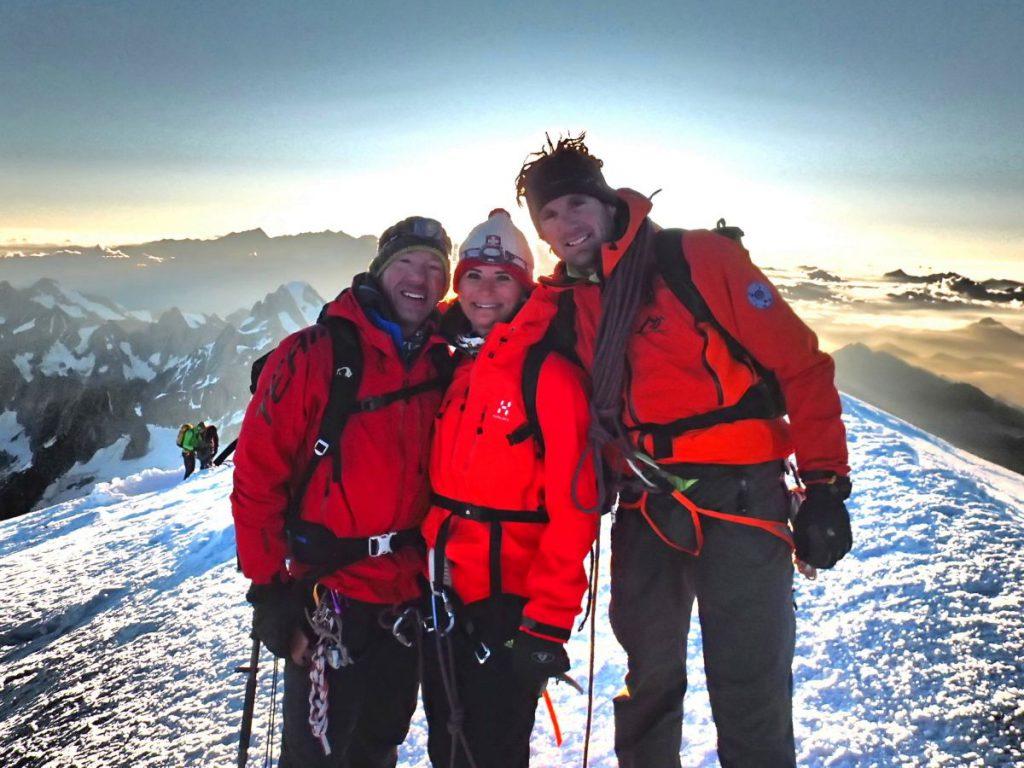 Mont Blanc Besteigung - Gruppenfoto auf dem Gipfel.