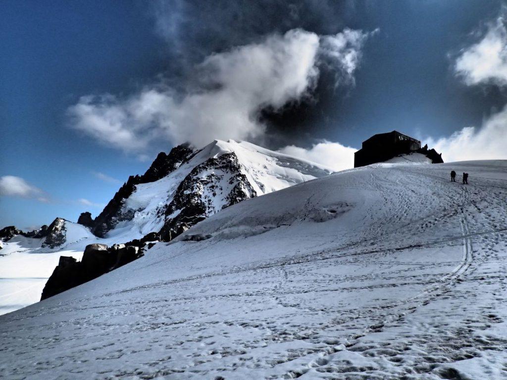 Cosmique Hütte auf 3.613 Metern Höhe.