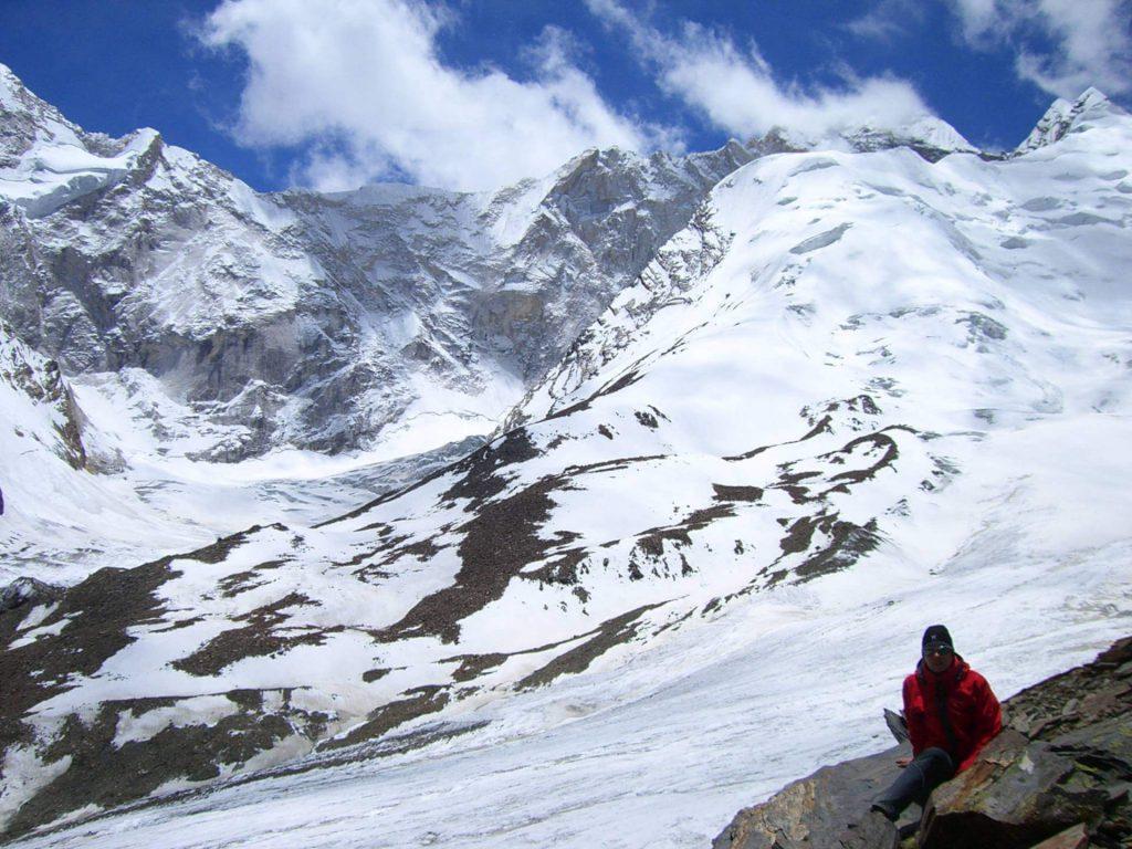 Indien Trekking - Am Rande der Gletscherzunge.
