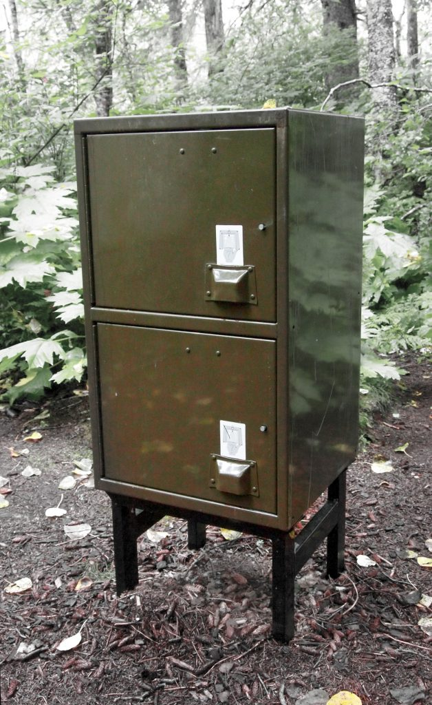 Bear box in Klondike Gold Rush National Park.