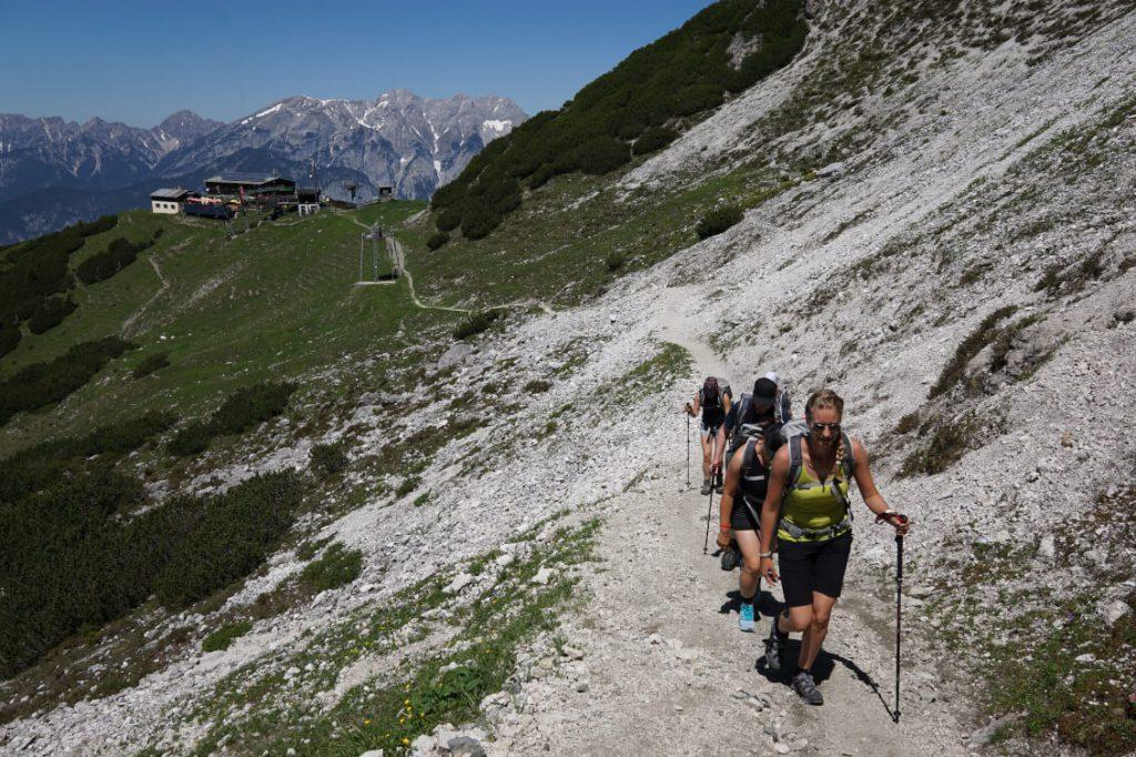 Wanderung vom Birgitzköpflhaus auf die Saile (Nockspitze) auf 2404 m.