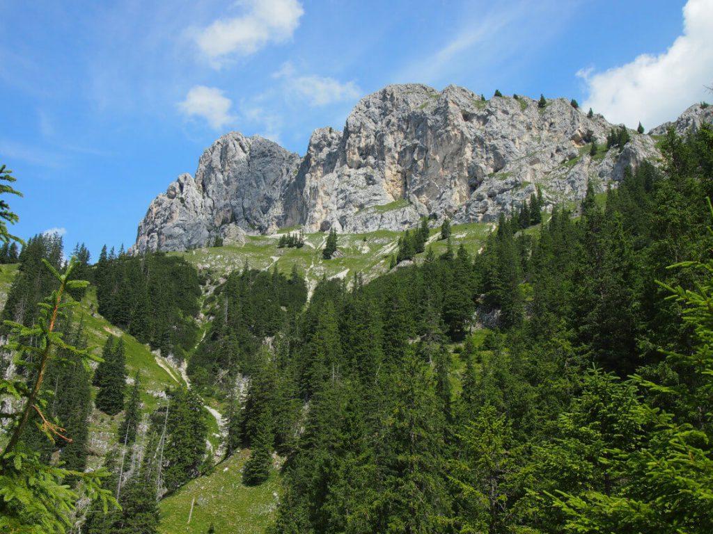 Südwand der Roten Flüh in den Tannheimer Bergen.