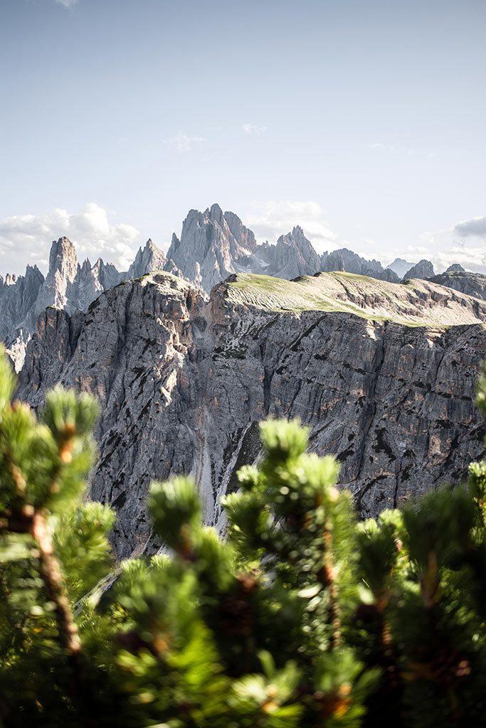 Berglandschaft in den Dolomiten.