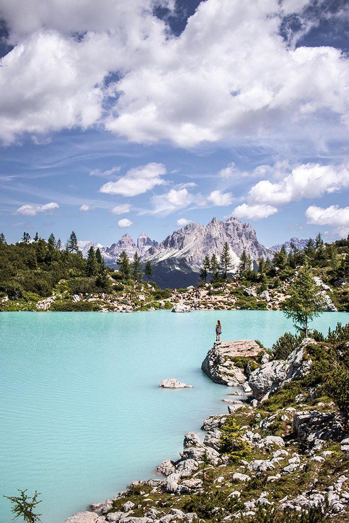 Maria am Lago di Sorapis.