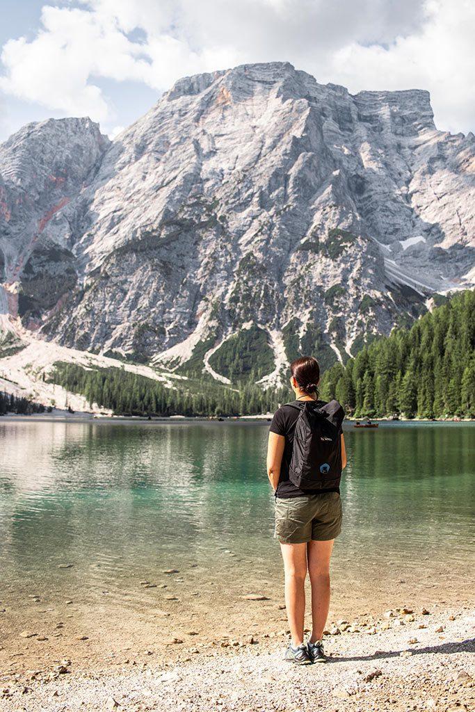 Kurzurlaub in den Dolomiten - Am Ufer des Pragser Wildsee