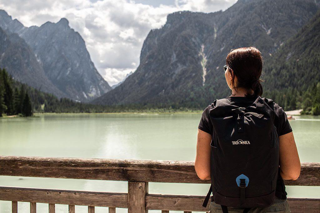 Kurzurlaub in den Dolomiten - Blick auf den Toblacher See.