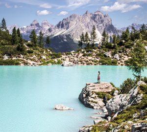 Kurzurlaub in den Dolomiten - Maria am Lago di Sorapis.