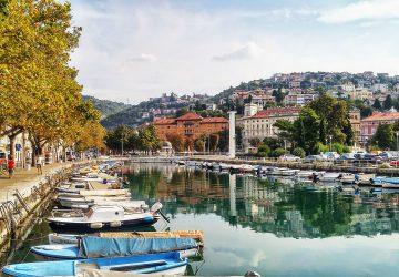 Der Hafen von Rijeka, der Kulturhauptstadt 2020.