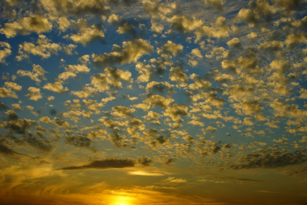 Altocumulus-Wolken bedeuten schönes Wetter.