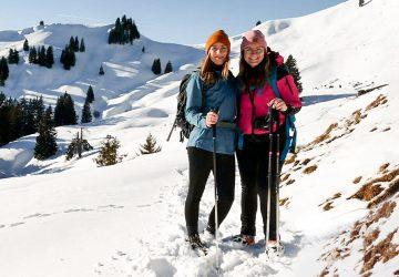 Wanderung zur Aueralm in der Winterzeit.
